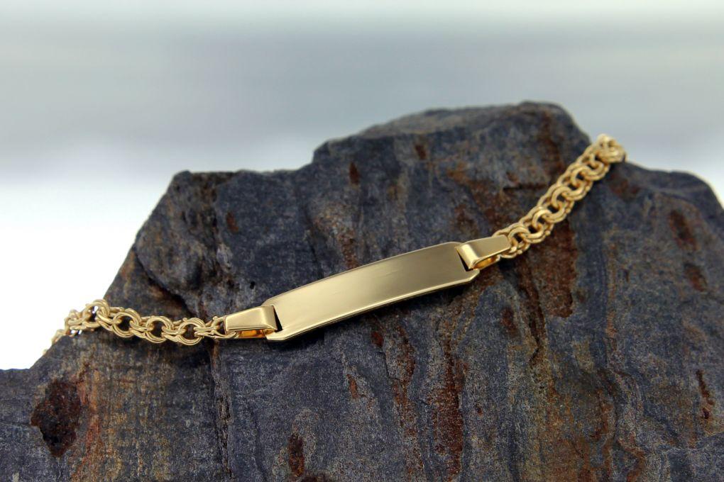 ID- Armband Gelbgold 750
