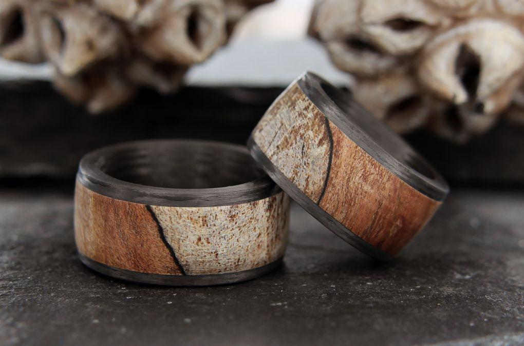Eheringe Holz Karbon