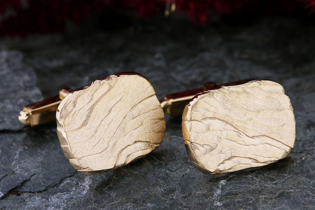 Manschettenknöpfe in Gelbgold 750